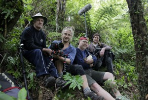 Group pic of crew at Pukaha Mt Bruce